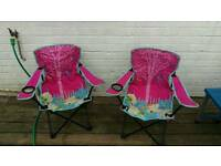 Pink camping kids chairs