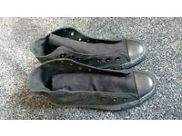 All Black Converse ankle pumps. Size 5.5 adult