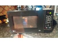 Black LG Microwave Grill