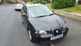 SEAT IBIZA SX 1.2 - 5 DOOR (Black) CHEAP TO INSURE AND TAX