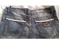 Dolce and GABBANA Jeans with Metal Plate Mens