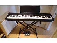 Used Digital Piano Yamaha P-105 with casing, pedal and stand