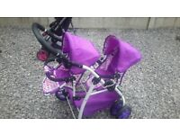 LITTLE GIRLS TOY ELLA TANDOM STROLLER