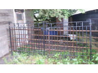 LARGE driveway Gates 10 foot - VICTORIAN IRON