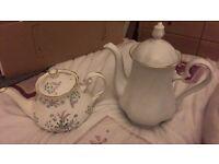 Vintage tea pot and coffee pot