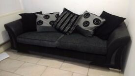 black and grey dfs sofa