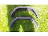 A pair of trailer mudguards
