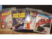PS3 Game Bundle: Borderlands, Borderlands Pre-Sequel, Dragon Ball Z Budokai HD, Need for Speed MW