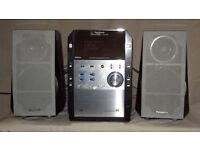 Panasonic Hi-Fi stereo system, 2x 70 watt per channel, 5 CD changer (SC-PM29)