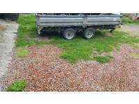 2013 hudson 12x6ft 3500kg dropside trailer no vat