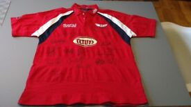 Scarlets signed rugby shirt - Celtic League 2003/04