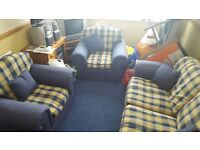 Cottage style sofa bed and two chairs