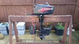 OUTBOARD MOTOR TOHATSU 3.5HP 2 STROKE STANDERED SHORT SHAFT DINGHY TENDER RIB SIB MARINER MERCURY