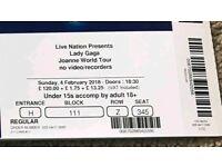 Lady Gaga Tickets O2
