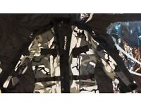 Motorbike clothing mens jacket and trousers Woman's jacket