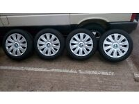 """Genuine Steel Wheels BMW 1, 3 Series 16"""" Winter Tyres Dunlop 205/55/16 7mm POSTAGE available"""