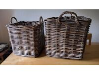 baskets for logs and kindling or storage from John Lewis