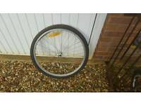 Front bike wheel with quick reles