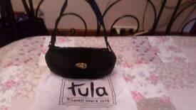 Tula by Radley black leather handbag