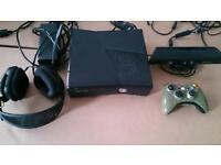 XBOX 360 WITH 23 DOWNLOADED GAMES
