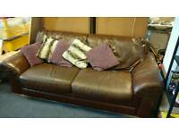 Brown leather couch FREE