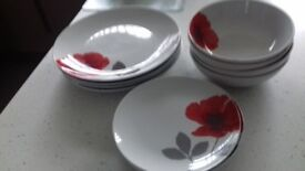 Next Poppy Dinner Set