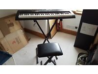 Electronic Keyboard Shen Kong with stand and stool