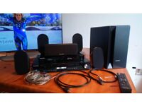 Samsung 5.1 Surround Sound System With 3D Blu Ray Player - All Cables Included Free