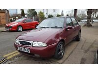 FORD FIESTA 1.4 GHIA LOW MILES ONLY 68K STARTS AND DRIVES GOOD 8 MONTHS MOT BARGAIN £295!!!