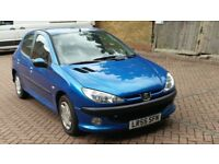 PEUGEOT 206 1.4 S 55 REG BLUE 5 DOORS MANUAL PAS A/C 77K NEEDS ATTENTION - DRIVES - 07826 336 398