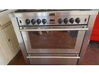 90cm Stoves Dual Fuel 5 Burner Cooker