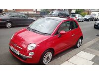 Fiat 500 Lounge 1.2 3dr with panoramic sun roof