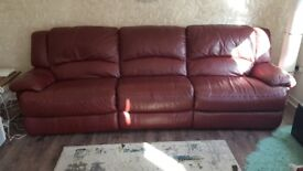 Red electric recliner suite + recliner armchair