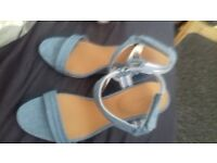 womens genuine la coste wedges blue bnwt make lovely xmas present