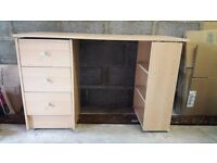 Study desk; TV stand with book cabinet