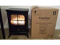 NEW Finether 1800W Freestanding Portable Electric Fireplace Heater