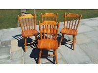 4 wooden kitchen chairs