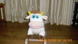 Kiddie land rocking cow toy