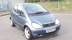 2003 Mercedes Benz A Class 1.4 Petrol 5 Door 1 Owner 6 Month MOT 64000 Miles Only.