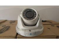 DOME WHITE CCTV CAMERA - AHD - 2.0MP - IP66 - 1080P - 30 METERS NIGHT VISION
