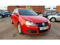 2007 GOLF GT TDI SPORT 2.0 DIESEL 5DR MANUAL RED COLOUR 140 BHP