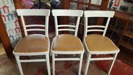 Set Of 3 Vintage Kitchen Chairs