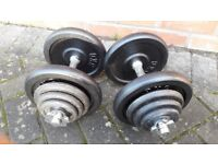 37KG CAST IRON DUMBBELL WEIGHTS SET
