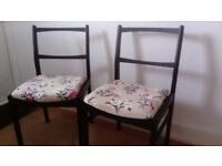 A pair of vintage style dining chairs in very good condition.