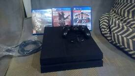Ps4 1tb console with fallout 4, bloodborne, and f1 2016