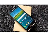 Samsung Galaxy s5 G900f gold unlocked boxed