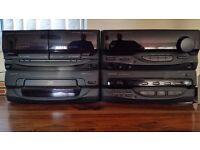 Kenwood Stereo Receiver Amplifier & Cassette/CD Player Hi-Fi System