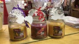 3 x wrapped jar candles