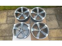 19 inch AUDI Unique Black Edition Rotar Alloy rims X 4 - excellent condition