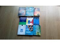 A SELECTION OF 9 No., DEGREE LEVEL, CHEMISTRY TEXT BOOKS